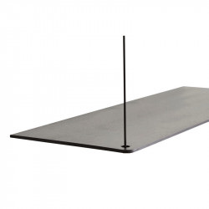 Raft negru din lemn de stejar si metal 80 cm Stedge Add-On Woud