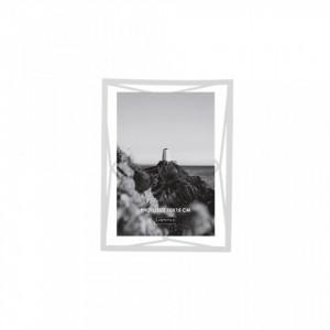 Rama foto alba din metal si sticla 16x21 cm Nuri White LifeStyle Home Collection