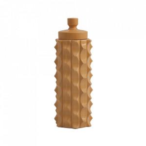 Recipient cu capac galben mustar din ceramica 15x41,5 cm Masai Vical Home