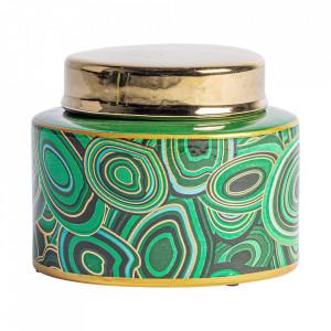 Recipient cu capac multicolor din ceramica 13x15 cm Bashir Vical Home
