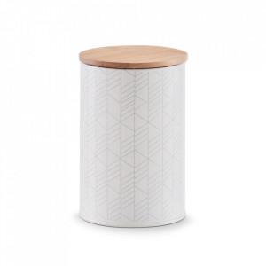 Recipient cu capac multicolor din metal si lemn 1000 ml Rema Zeller