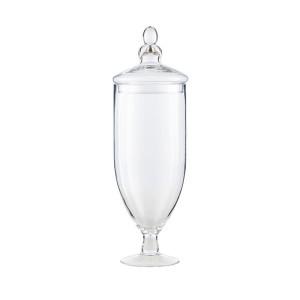 Recipient cu capac transparent din sticla 16x53 cm Queen LifeStyle Home Collection