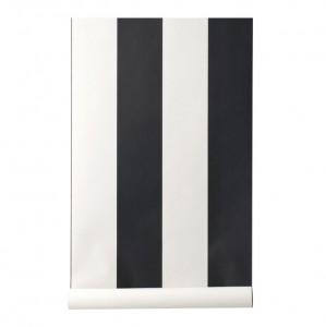 Rola tapet 53x1000 cm Vertigo negru/alb Ferm Living