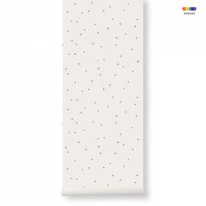 Rola tapet din hartie 53x1000 cm Dot Off -White Ferm Living