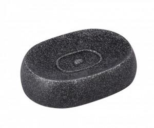Savoniera neagra din rasina 12,5x8,9x3,1 cm Puro Wenko