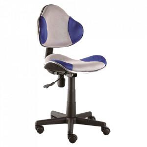 Scaun birou ajustabil gri/albastru din textil si metal Q-G2 Signal Meble