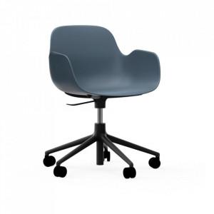 Scaun birou ajustabil rotativ albastru/negru din polipropilena Form 5W Normann Copenhagen
