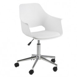 Scaun birou alb/argintiu din plastic si metal Ramona Actona Company