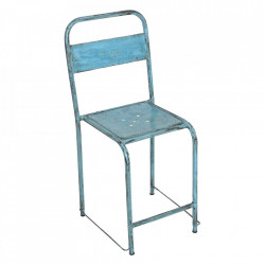 Scaun dining albastru deschis din fier Java Raw Materials