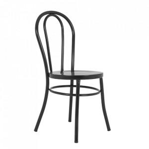 Scaun dining negru din metal Chaplin Custom Form