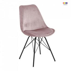 Scaun dining roz/negru din poliester si metal Eris Actona Company