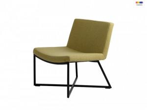 Scaun lounge galben din polipropilena si metal Zero Lemon Custom Form