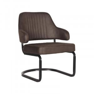 Scaun lounge gri antracit/negru din microfibre si metal Otta LABEL51