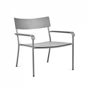 Scaun lounge gri din aluminiu August Serax