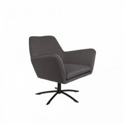 Scaun lounge gri Knut Dark Grey White Label