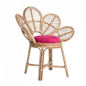 Scaun lounge maro din ratan Lluc Vical Home
