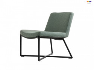 Scaun lounge turcoaz din polipropilena si metal Zero Custom Form