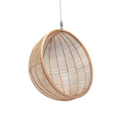 Scaun mare suspendat din ratan natural Bowl HK Living