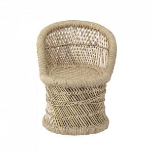 Scaun maro din bambus si iuta Nature Bloomingville Mini