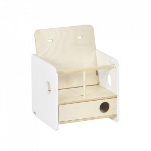 Scaun pentru bebelusi maro/alb din placaj Nuun Kave Home