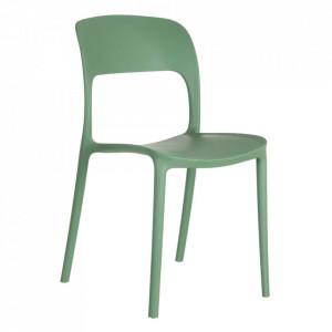 Scaun verde din plastic Just Ixia