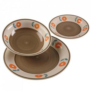 Set 18 farfurii multicolore din ceramica Margit Versa Home