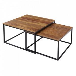Set 2 blaturi pentru masa maro din lemn Elements Invicta Interior