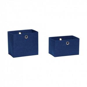 Set 2 cosuri albastre din fetru Giulia Hubsch
