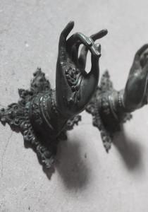 Set 2 cuiere bronz Mudra Hand M Love Warriors