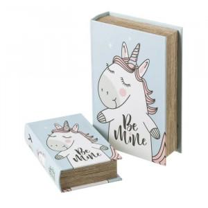 Set 2 cutii tip carte din MDF Be Mine Unimasa