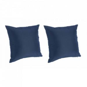 Set 2 fete de perna albastre din poliester pentru exterior 45x45 cm Cindy Bizzotto