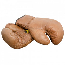 Set 2 manusi de box decorative maro din piele 13 cm Boxing Gloves Versmissen