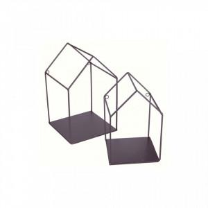 Set 2 rafturi negre din metal Houses Opjet Paris