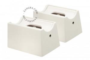 Set 2 suporturi pentru banda LED Zandra White Zangra