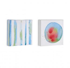 Set 2 tablouri din lemn 15x15 cm Oh La Forma