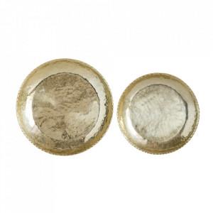 Set 2 tevi aurii din aluminiu Ikiti Bloomingville