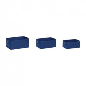 Set 3 cosuri albastre din fetru Islay Hubsch