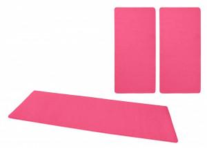 Set 3 covoare roz inchis Bed-Border Fancy Uni Hanse Home