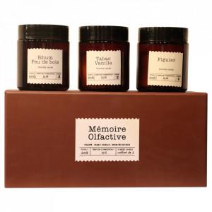 Set 3 lumanari parfumate Olfactory Memory Opjet Paris