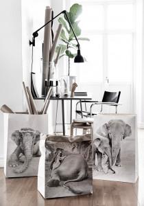 Set 3 pungi din hartie Elephants Love Warriors
