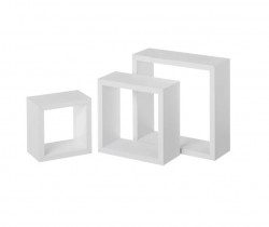 Set 3 rafturi albe din MDF Gim White Unimasa