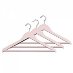 Set 3 umerase roz din lemn si fier Pity Zeller
