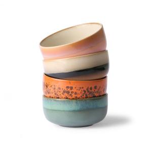 Set 4 boluri multicolore din ceramica 12 cm Dessert HK Living