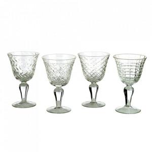 Set 4 pahare transparente din sticla pentru vin Aolia Pols Potten