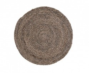 Set 4 protectii masa maro din foaie de porumb 38 cm Circle Dark House Doctor