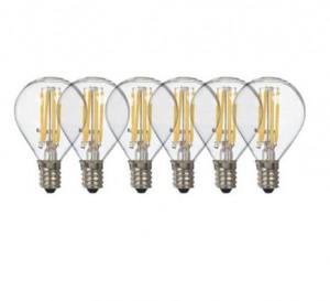 Set 6 becuri cu filament LED 0,3W Luminaire Clear Seletti
