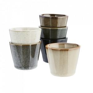 Set 6 cesti multicolore din ceramica 6x7 cm Movia Madam Stoltz