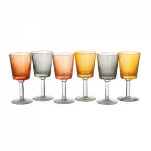 Set 6 pahare multicolore din sticla pentru vin Library Pols Potten