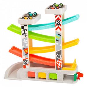 Set de joaca 7 piese din lemn si metal Race Track Small Foot