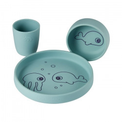 Set de masa 3 piese din silicon Blue Sea Done by Deer